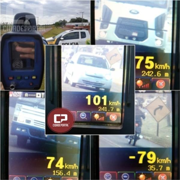 Durante operação radar em Cascavel PRE autua 53 motoristas por excesso de velocidade