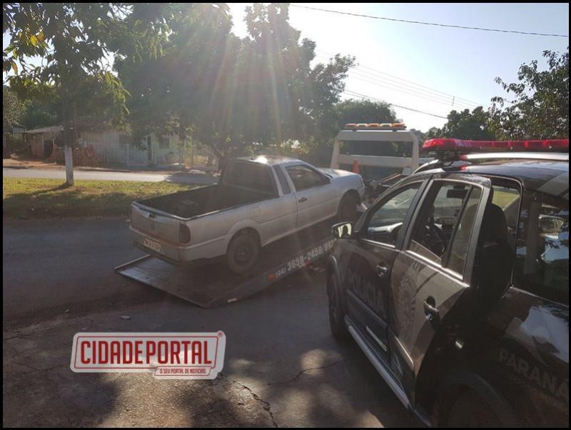 Policiais do BPFRON apreenderam um automóvel com sinais de adulteração na identificação do veículo