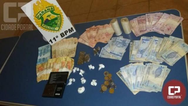 Policiais militares prendem pai e filha suspeitos de tráfico de drogas na cidade de Fênix