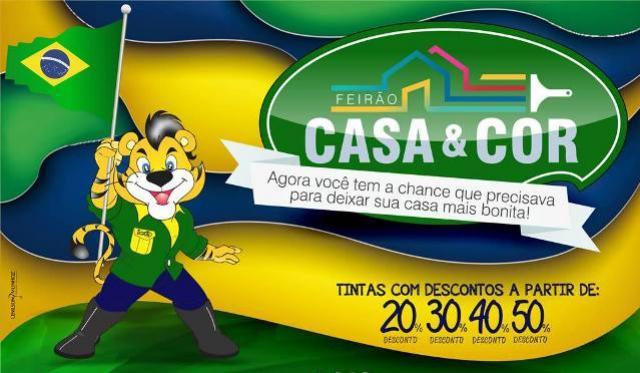 Feirão Casa & Cor da Tigrão Tintas com descontos de até 50% aproveite
