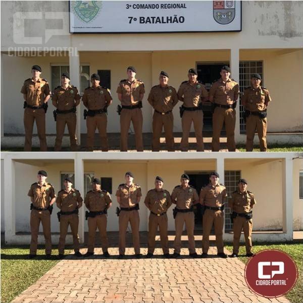Quatro novos aspirantes a oficial iniciaram estágio no 7º BPM