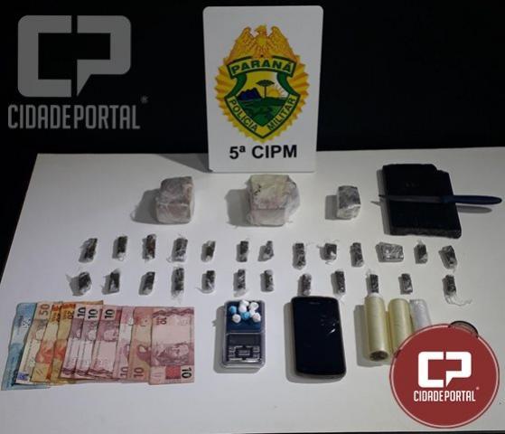 Policiais Militares de Cianorte apreendem entorpecentes e realizam prisão de um homem