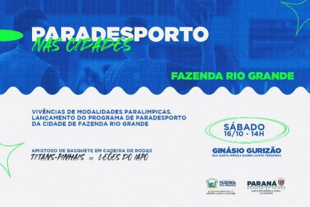 Com ação especial, Projeto Paradesporto nas Cidades começa neste sábado, 16