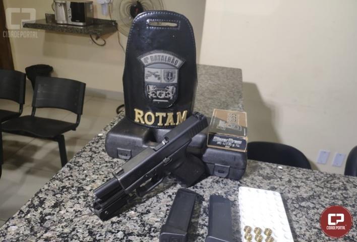 Polícia Militar prende indivíduo por posse irregular de arma de fogo em Sarandi