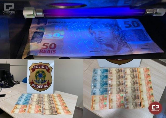 Polícia Federal prende em flagrante homem com notas falsas na cidade de Santa Isabel do Ivaí