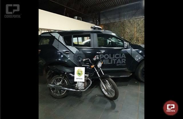BPFron recupera motocicleta furtada em Cascavel durante Operação Hórus em Guaíra