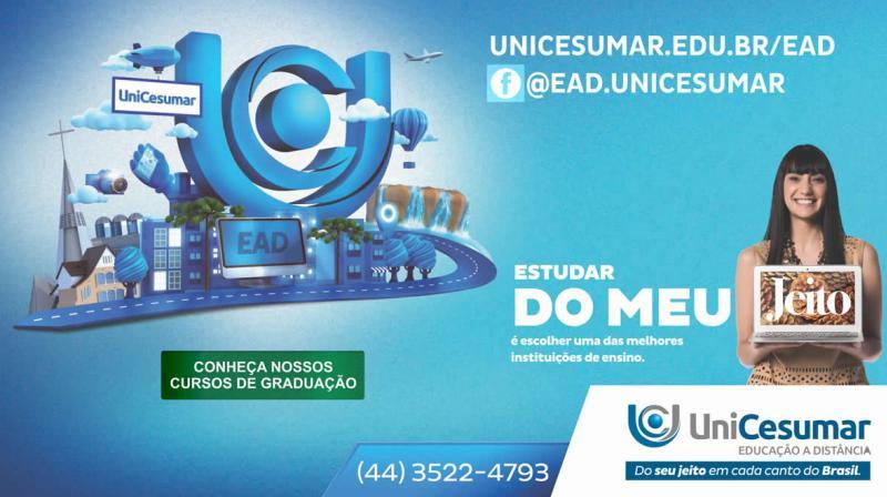 Promoção Unicesumar EAD Goioerê - Semana das Licenciaturas, imperdível