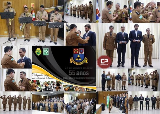 Batalhão Rodoviário da PM comemora 55 anos de história e tradição na segurança do trânsito viário do Paraná
