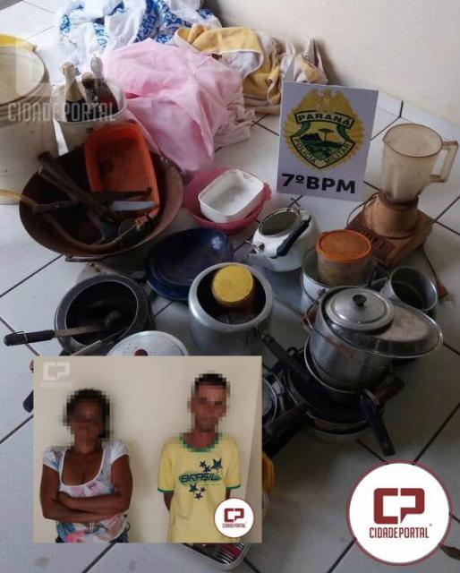 Policiais Militares recuperam objetos furtados No município de Moreira Sales
