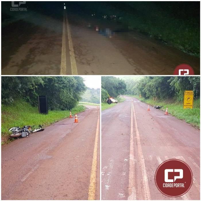 Motociclista de 20 anos perde a vida em acidente na PR-364 em Altamira do Paraná