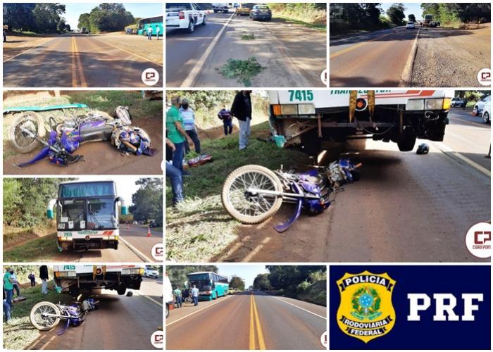 Acidente na BR-369 em Ubiratã deixa uma pessoa com ferimentos graves nesta sexta-feira, 29