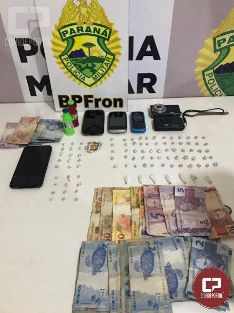BPFron apreende dinheiro e estoura ponto de tráfico de drogas em Guaíra
