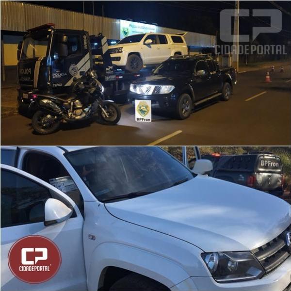 BPFron aprende veículo carregado com contrabando após motorista jogá-lo contra os policiais