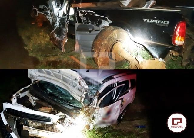 Três pessoas ficaram feridas após acidente que envolveu 3 veículos em Corbélia