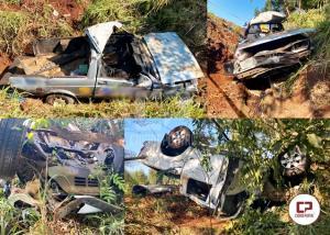 PRF presta atendimento a um acidente no km 502 da BR 369 em Corbélia