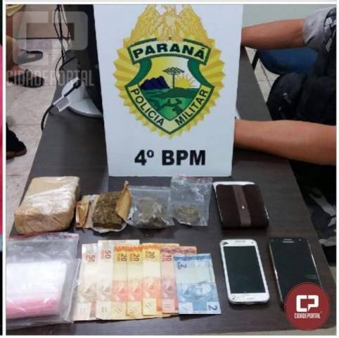 Polícia Militar prende traficante e apreende droga no Conjunto Requião em Maringá
