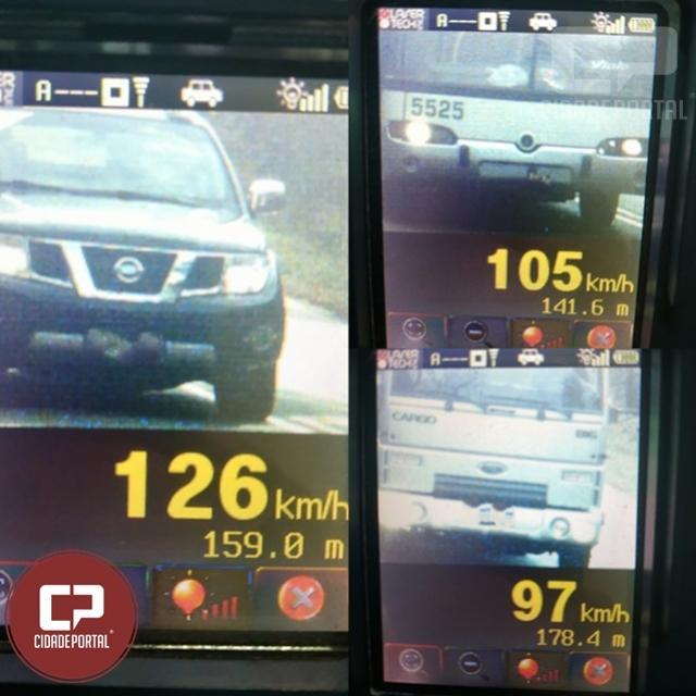 PRE autua 51 motoristas em operação radar no município de Corbélia