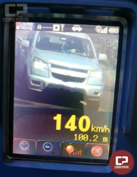 PRE de Cascavel flagra veículo à 140 Km/h na PR- 573