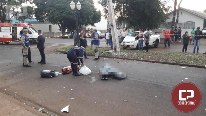 Motociclista perde a vida em acidente neste sábado, 14 em Campo Mourão