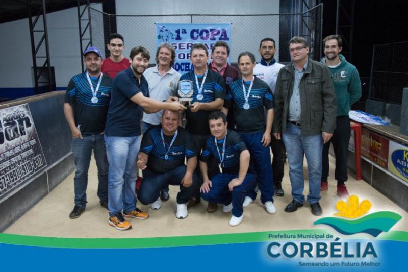 Disputa do terceiro lugar e premiação da Copa Serraria Corbélia de Bocha em trio