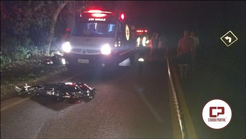 Motociclista perde a vida após se chocar com árvore na PR-574 entre Penha e Cafelândia