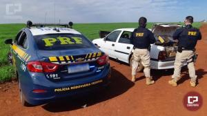 Após acompanhamento tático PRF apreende veículo carregado com mais de 400 kg de maconha em Corbélia