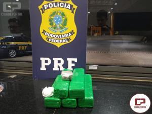 PRF aprende 4 kg de entorpecentes durante atendimento de acidente na BR-369