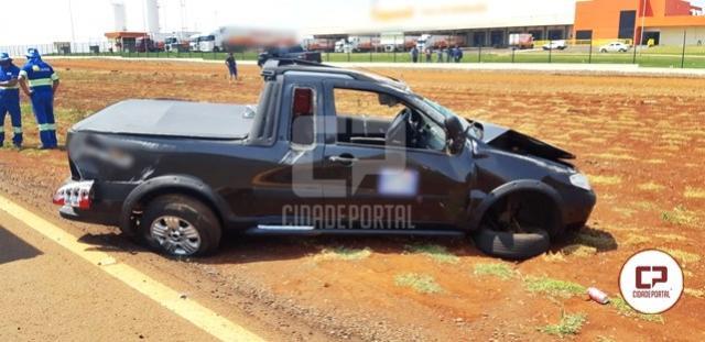 Grave acidente em Corbélia deixa mulher e filho feridos