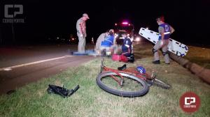 Ciclista morre após acidente na PR-158 em Campo Mourão