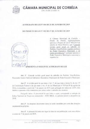 Vereadores de Corbélia aprovam reajuste para o Executivo, Legislativo, Magistério e Título de Cidadão Honorário