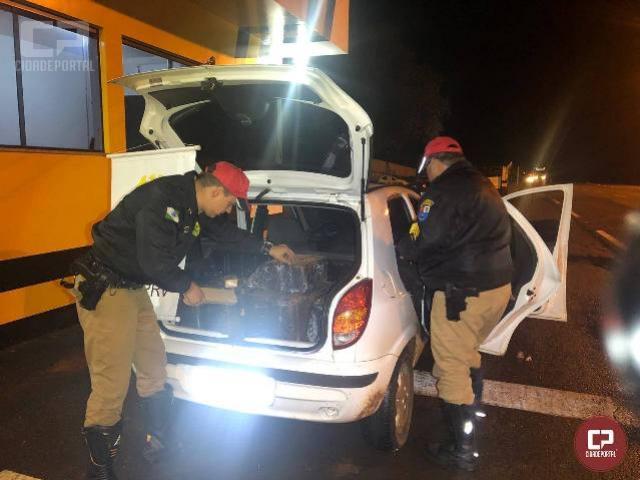 Polícia Rodoviária Estadual de Cruzeiro apreende veículo carregado com maconha em Umuarama
