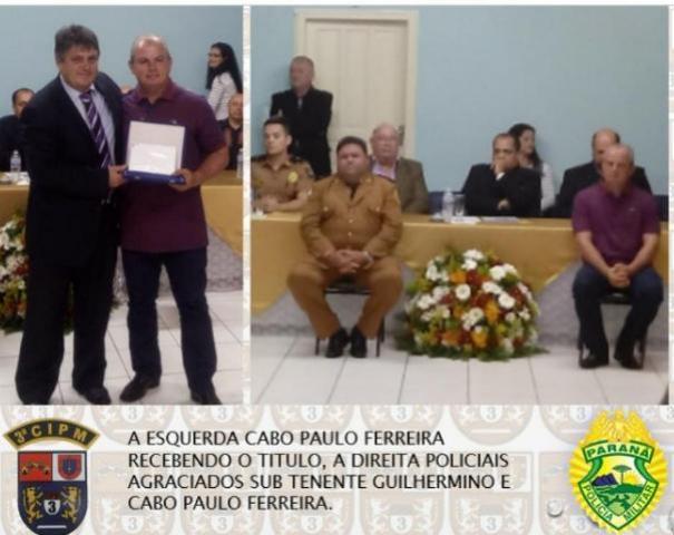 Policiais Militares da 3ª CIPM são homenageados na Câmara dos Vereadores no Município de Porto Rico