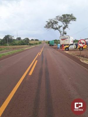 Acidente na PR-317 envolve ônibus com funcionários de frigorífico em São José das Palmeiras