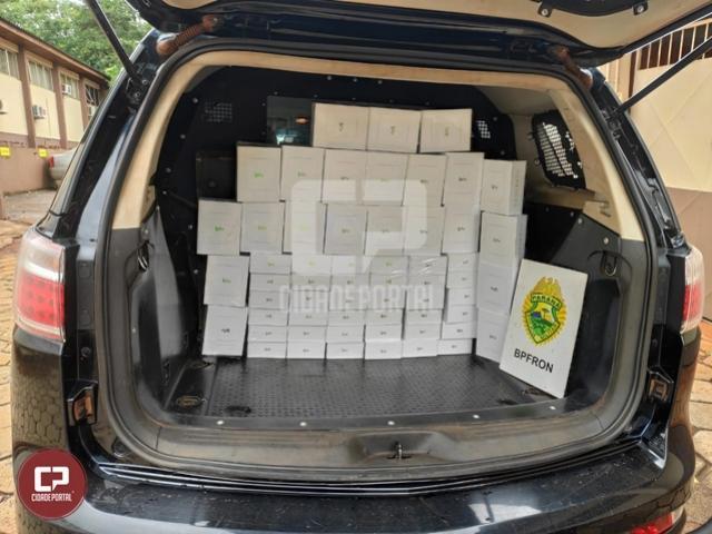 BPFron apreende produtos estrangeiros durante Operação Hórus em Foz do Iguaçu