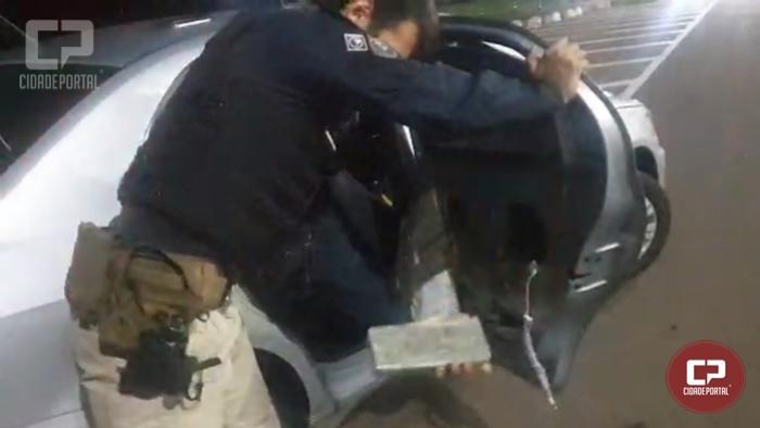 PRF prende homem e apreende maconha transportada em veículo em Santa Terezinha de Itaipu