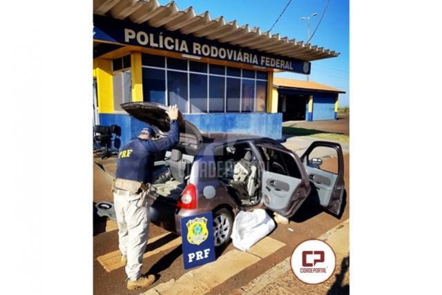 PRF apreende quase 300 quilos de maconha em Santa Terezinha do Itaipu