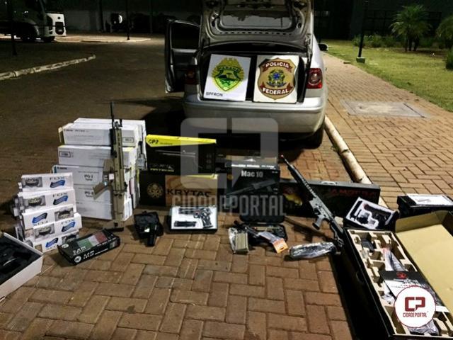 COBRA/BPFRON da PMPR e POLÍCIA FEDERAL apreendem veículo carregado com contrabando em Mercedes