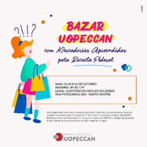 Bazar da Uopeccan com mercadorias apreendidas pela Receita Federal será realizado nesta semana