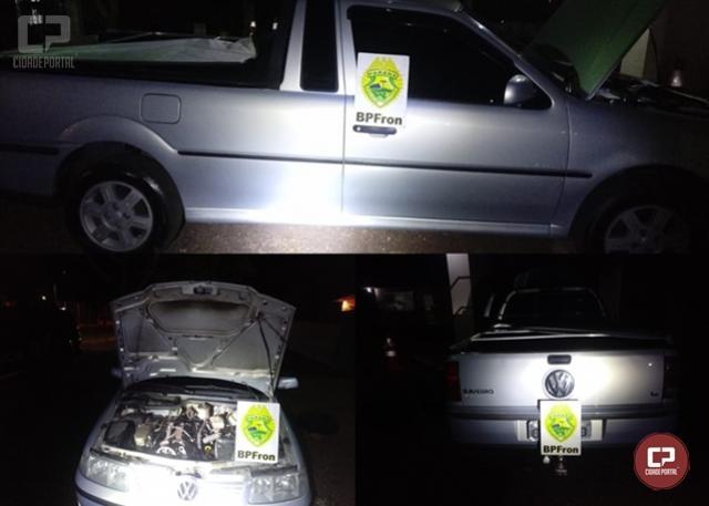 BPFron apreende veículo adulterado na cidade de Capitão Leônidas Marques durante Operação Hórus