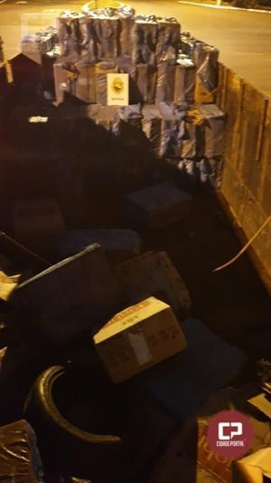 BPFron apreende automóvel e caminhão carregados com descaminho e contrabando em Santa Helena