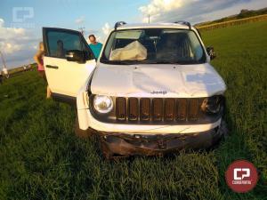 Acidente envolvendo dois veículos deixa 4 feridos entre Santa Helena e Missal