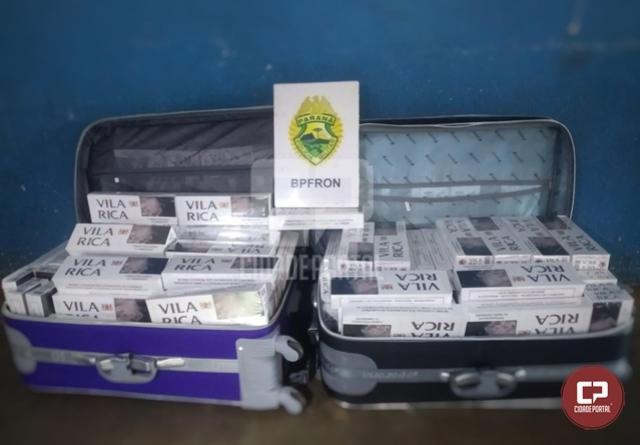 BPFron apreende cigarros contrabandeados em ônibus durante Operação Hórus em Matelândia