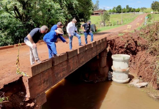 Obras da ponte no Lageado Grande estão em andamento