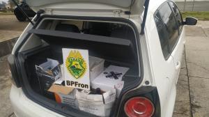 BPFRON apreende veículo com vinhos durante Operação Hórus em Barracão