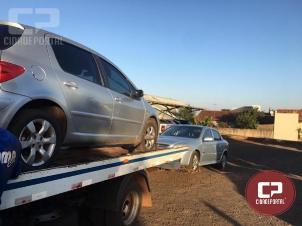 Operação conjunta apreende dois veículos preparados para o transporte de ilícitos em Mercedes