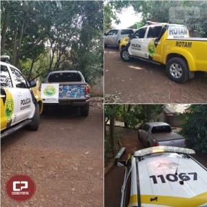 ROTAM da PRE de Cascavel recupera veículo roubado carregado de cigarros em Vera Cruz do Oeste