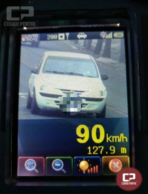 PRE autua 37 motoristas em operação radar no município de Santa Helena