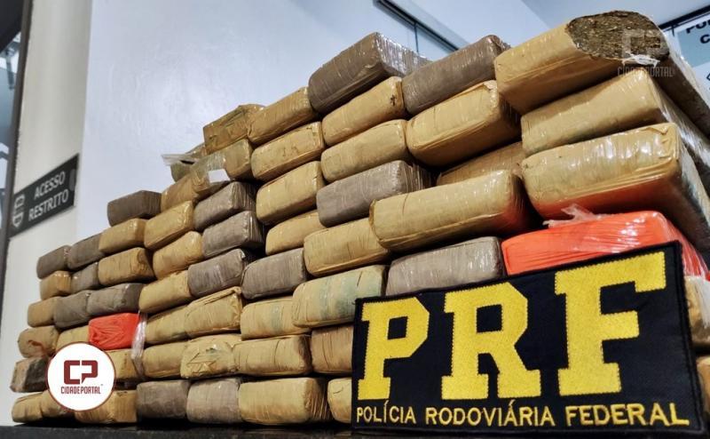 Polícia Rodoviária Federal apreende 49 KG de entorpecentes na BR-163 em Santa Lucia/PR