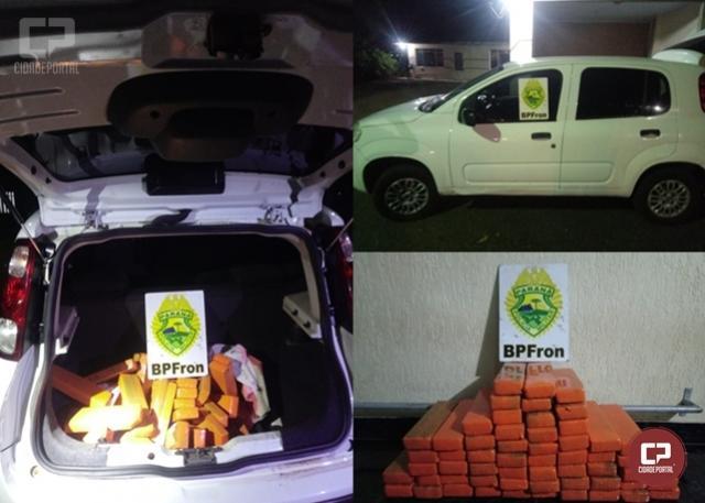 BPFRON apreende veículo carregado com 42 kg de maconha em Capitão Leônidas Marques