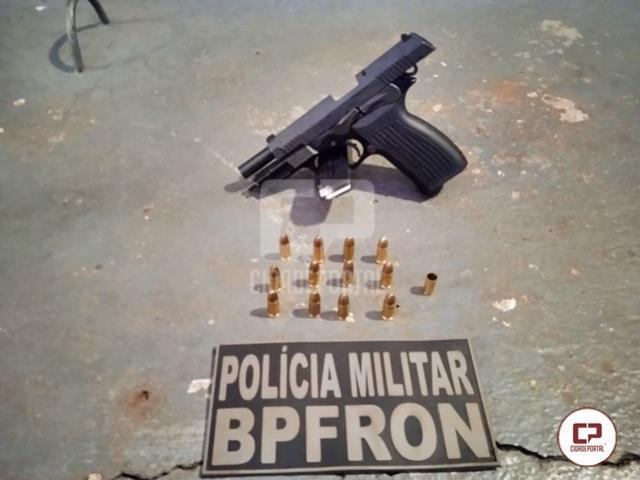 BPFRON apreende arma de fogo e munições em Santa Helena